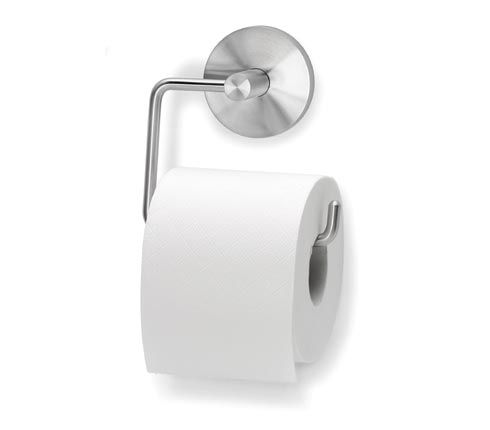 Porta rotolo carta igienica in acciaio inox dim 135x130x5mm - Porta carta igienica ...