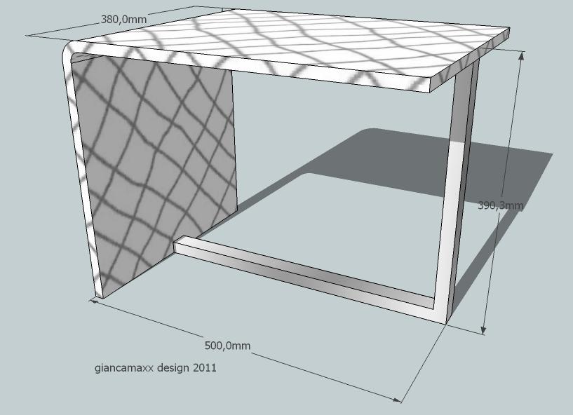 Sgabello bagno QVADRAT DESIGN. Dim.500x380x390mm