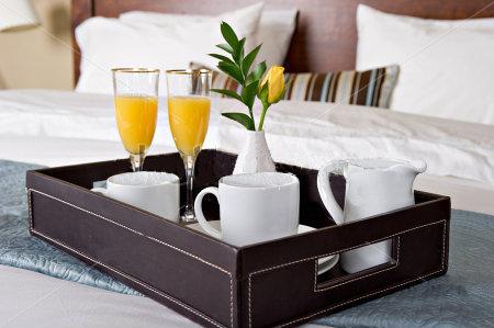 Frühstückstablett lederbezogenes serviertablett frühstückstablett